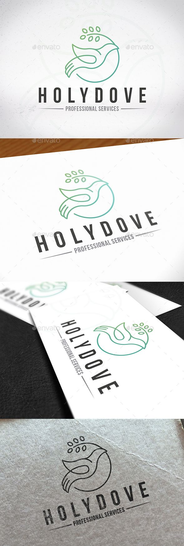 Holy Spirit Dove Logo Template PSD, Vector EPS, AI Illustrator