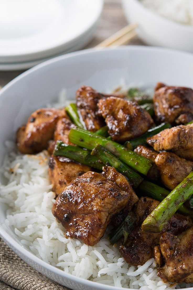 Black Pepper Chicken and Asparagus Stir Fry.  Easy to prep and make!