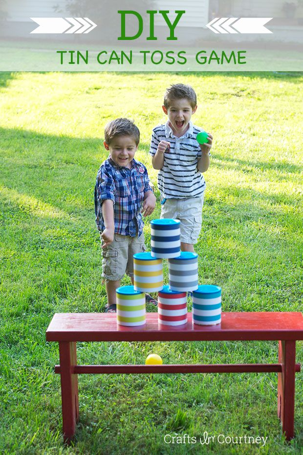 Fun DIY Can Toss Game for Kids!