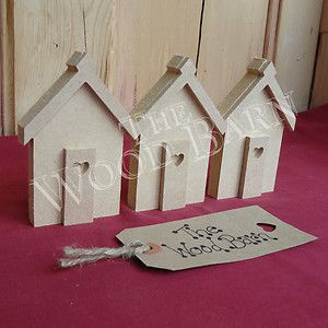 wood shapes crafts | ... 3D BEACH HUTS. Wooden craft shapes, Freestanding MDF Shapes. | eBay
