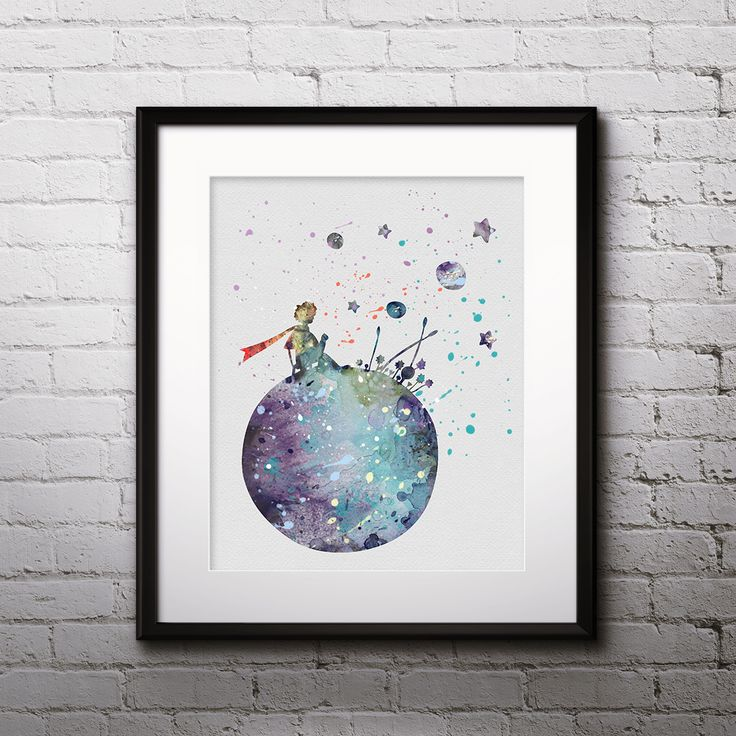 Little Prince nursery wall Art Print, Watercolor, painting, Home Decor Poster