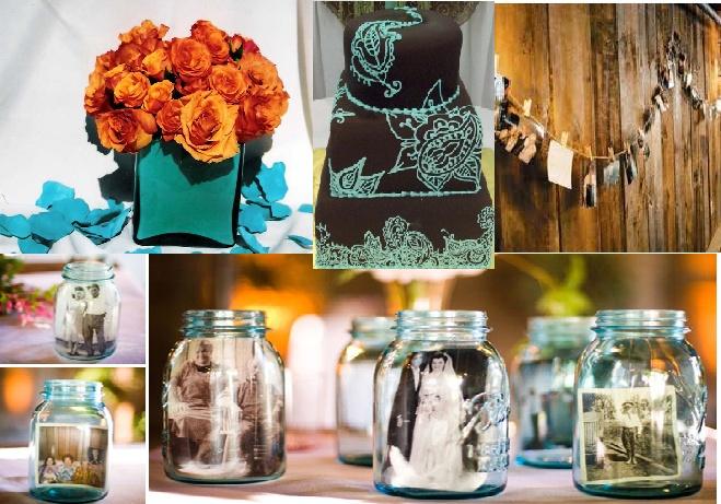 Orange & Turquoise Wedding