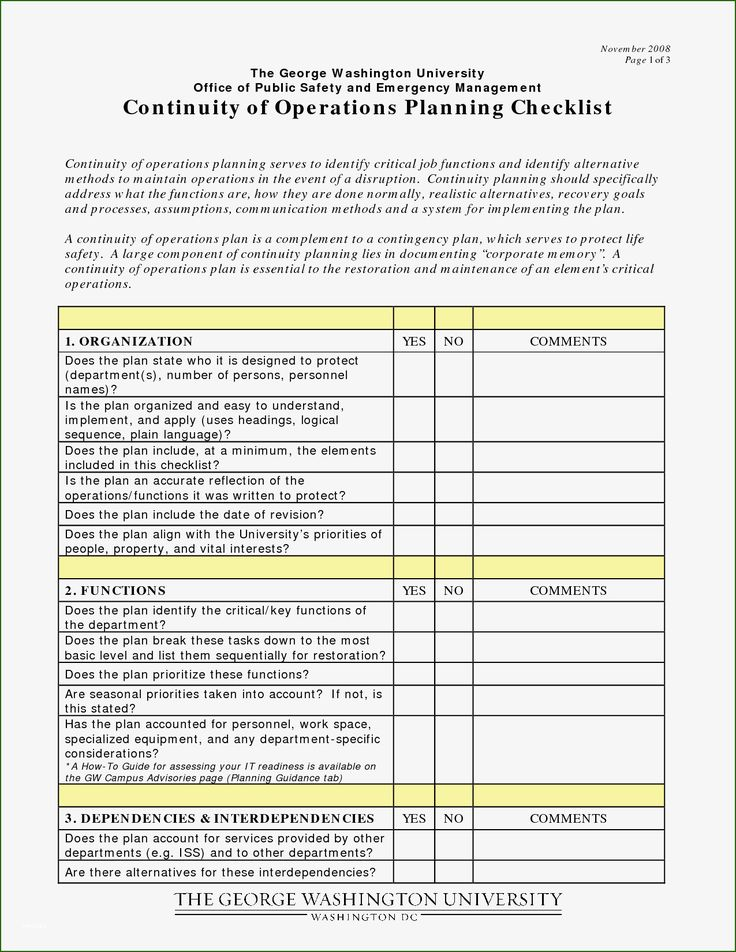 Continuity Of Operations Plan Template 11 Perception that