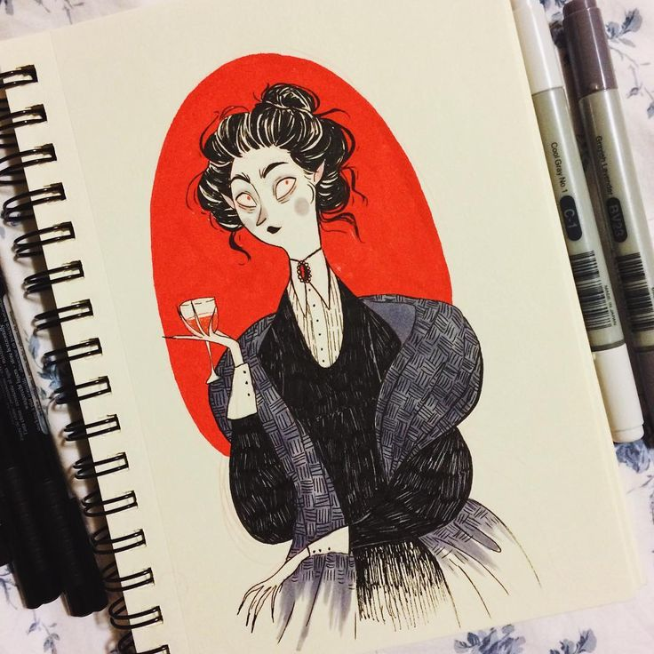My #inktober's never complete without a classy vampire!