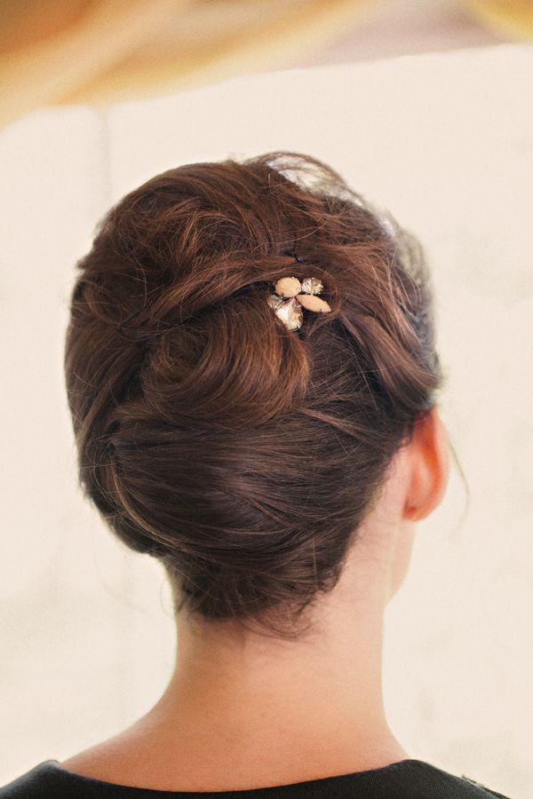 bridal updo //// Hair & Makeup: Julie Odom, Photo by Katherine O'Brien via Project Wedding