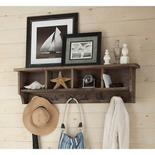 Pomona Metal and Reclaimed Wood 48-inch Entryway Coat Hook with Storage Cubbies - 18865085 - Overstock.com Shopping - Great Deals on Accent Pieces