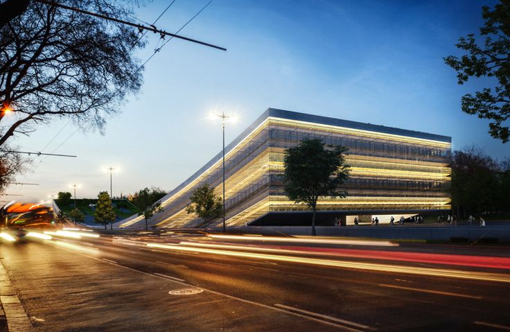 Museum of Ethnography, Liget Budapest Project, Design by NAPUR Architect, Rendering: AXION visual. Follow us on facebook: https://www.facebook.com/axionvisual Follow us on twitter: https://twitter.com/axionvisual