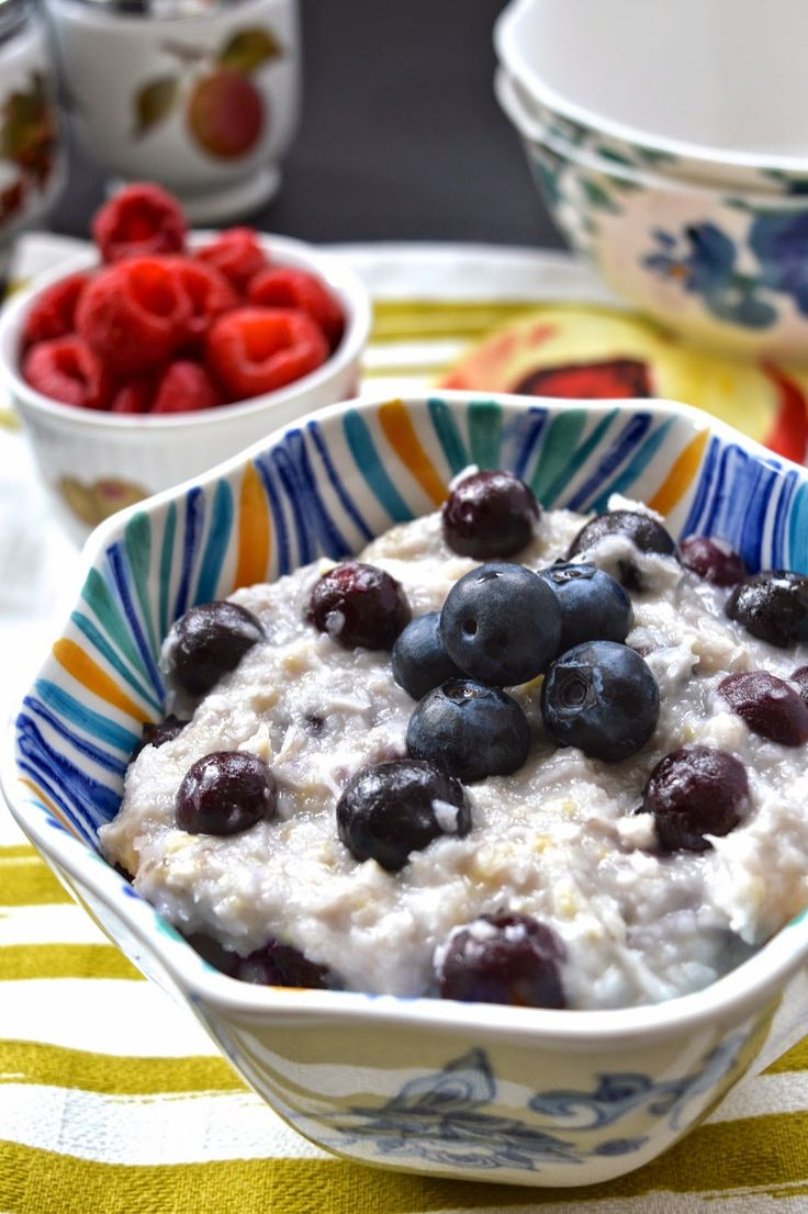 Coconut Blueberry Paleo Oatmeal (AIP, Gluten Free, GAPS, SCD)