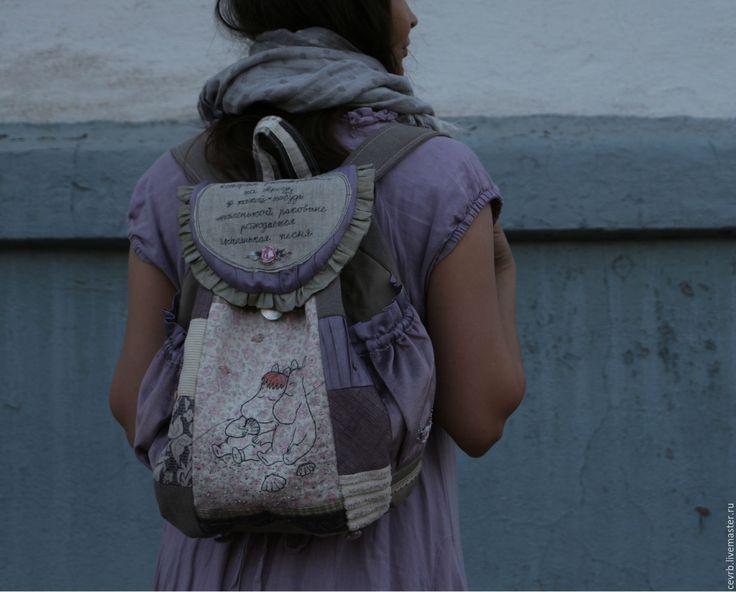 "Купить Муми-рюкзак ""Случайно падали звезды"" - Муми-тролль, муми-рюкзак, Фрекен Снорк"