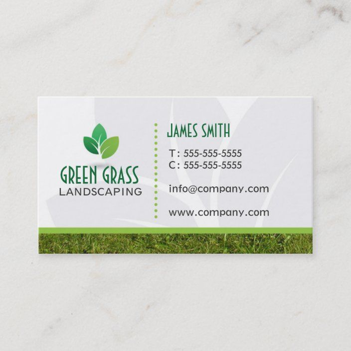 Landscaping Professional Business Card Zazzle Com Landscaping Business Cards Professional Business Cards Printing Business Cards