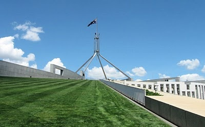 Canberra - Parliament House - Roof Lawn