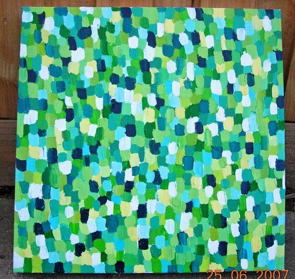 RAINFOREST 2 - Original acrylic abstract by LEESA