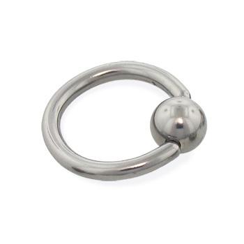 Titanium captive bead ring, 12 ga