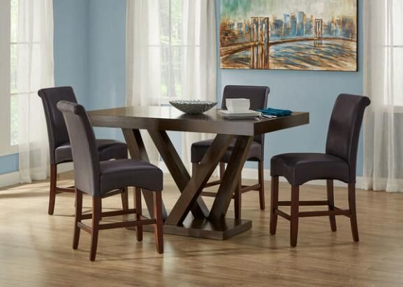 Cora Brown 5 Pc. Counter Height Dinette