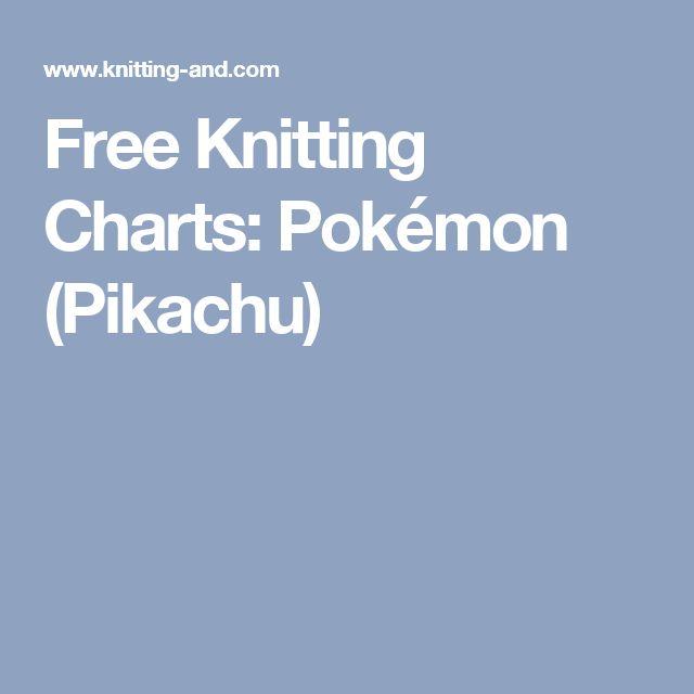 Free Knitting Charts: Pokémon (Pikachu)