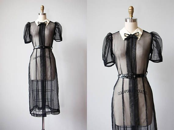 Hey, I found this really awesome Etsy listing at https://www.etsy.com/listing/460503890/30s-dress-vintage-1930s-dress-sheer