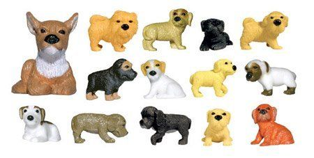 Adopt a Puppy Figures Series 2 - Set of 14 Vending Machine Toys by Adopt a Puppy. $8.88. These adorable puppies were made for .75 cent vending machines. No need to drive over town looking for them and hoping to make a complete set. We have done the work for you. You will get the complete set of 14 different puppies. Each puppy is approx. 1.25 long and .75 inches tall. They are small but detailed and very cute. These would make great party favors, goodie bags or cake...