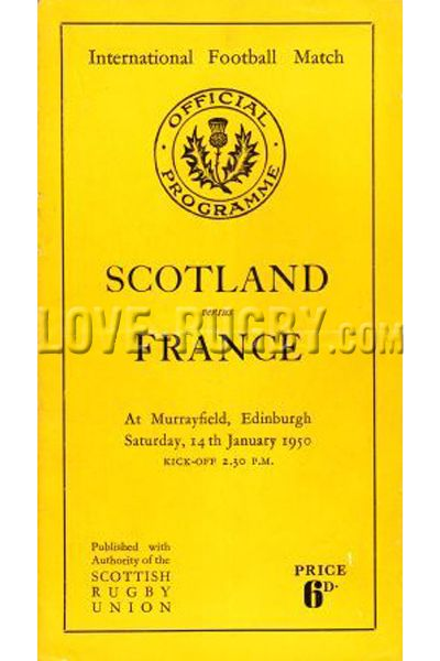 #rugby history today 14/01 in 1950 : Scotland 8-5 France - SRU beat French in Murrayfield 1950 rugby test   http://www.ticketsrugby.com/rugby-tickets/games/Scotland-France-rugby-tickets.php