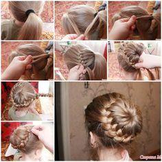 DIY Unique Braided Bun Hairstyle  Like us on Facebook == https://www.facebook.com/icreativeideas