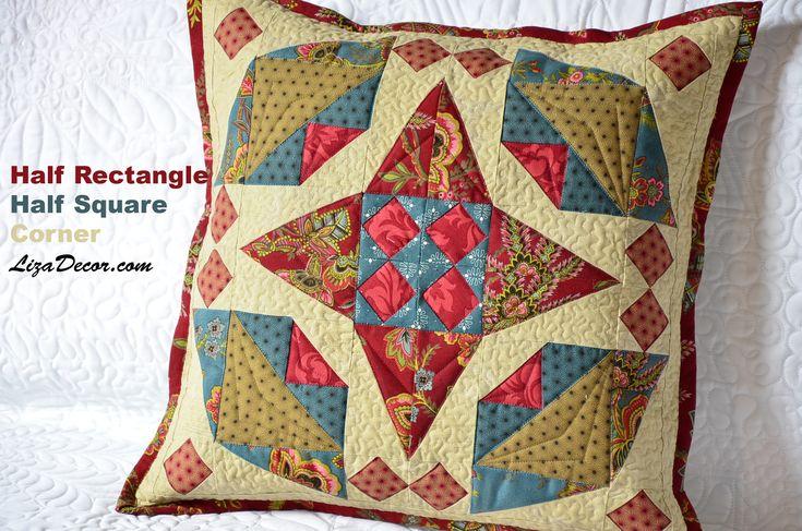 Patchwork - Vzory Half Rectangle, Half Square, Corner (odšité rohy) #tutorial #patchwork #lizadecor #pattern #šablony #vzory #video