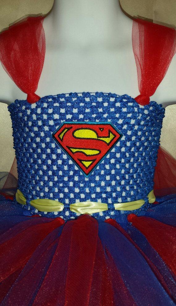 Supergirl / Superman tutu for Halloween. Sizes by InspiredTutus