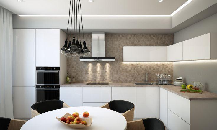 Теплая кухня - Кухня в современном стиле | PINWIN - конкурсы для архитекторов, дизайнеров, декораторов