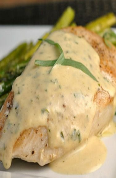 Chicken with Mustard Cream Sauce. 4 (5 oz) boneless skinless chicken breasts 1 Tbsp olive oil ¼ tsp salt and pepper, to taste ½ cup low-sodium chicken broth 1 cup half and half 3-4 Tbsp Dijon mustard 1 tsp dried tarragon or oregano