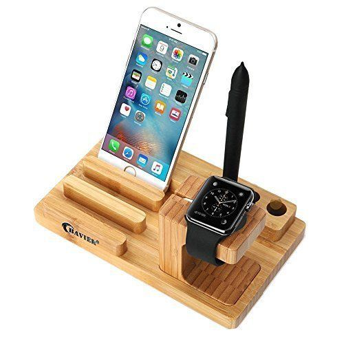 Apple Watch Stand 3 in 1 Bamboo Wood Charge Station Dock Holder iWatch iPad New #BambooWoodChargeStation