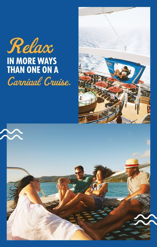 It's time to relax and recharge with a Carnival Cruise filled with beaches, spas, delicious food and endless entertainment. Get started at Carnival.com.