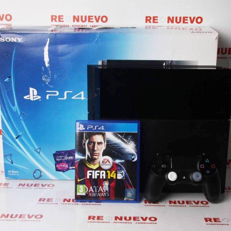 #Consola #PS4 en caja + Juego #FIFA 14 de segunda mano E269769 | Tienda online de segunda mano en Barcelona Re-Nuevo #segundamano
