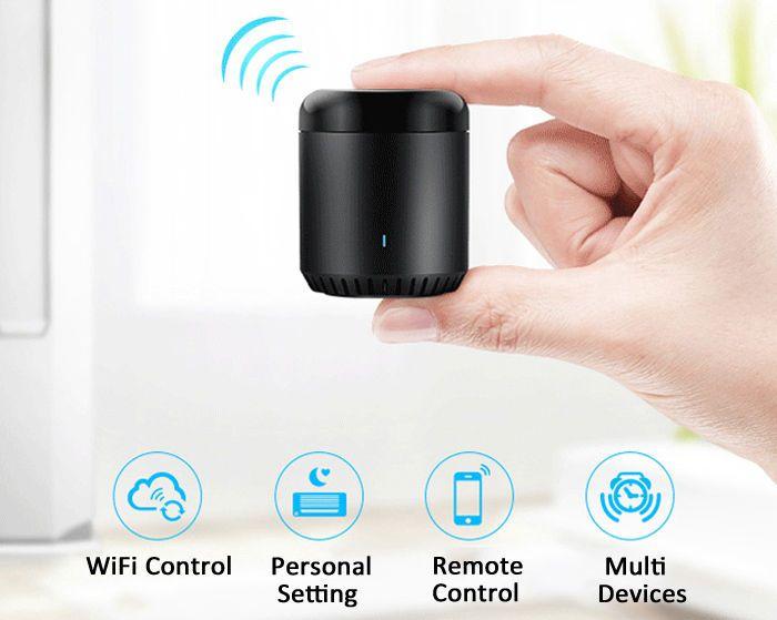 NEW Upgrade Broadlink Mini Black Bean Smart Home Wifi Smart Remote Controller #NEWUpgradeVersionBroadlinkRMMiniBlackBeanS