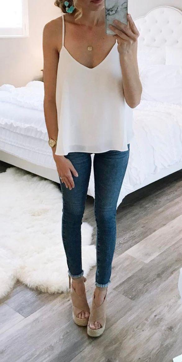 White cami. For Everyone. Blog @ #DapperNDame Pinterest. dapperanddame.com