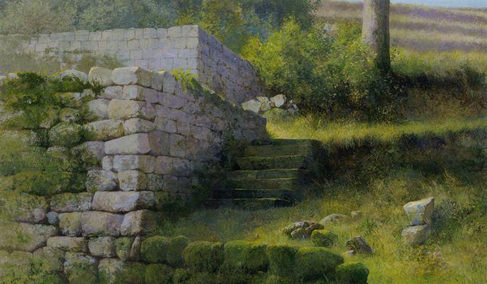 Klik op afbeelding om het venster te sluiten Peter Durieux (1951)   2005  22 x 40 cm  schilderij  acryl op paneel