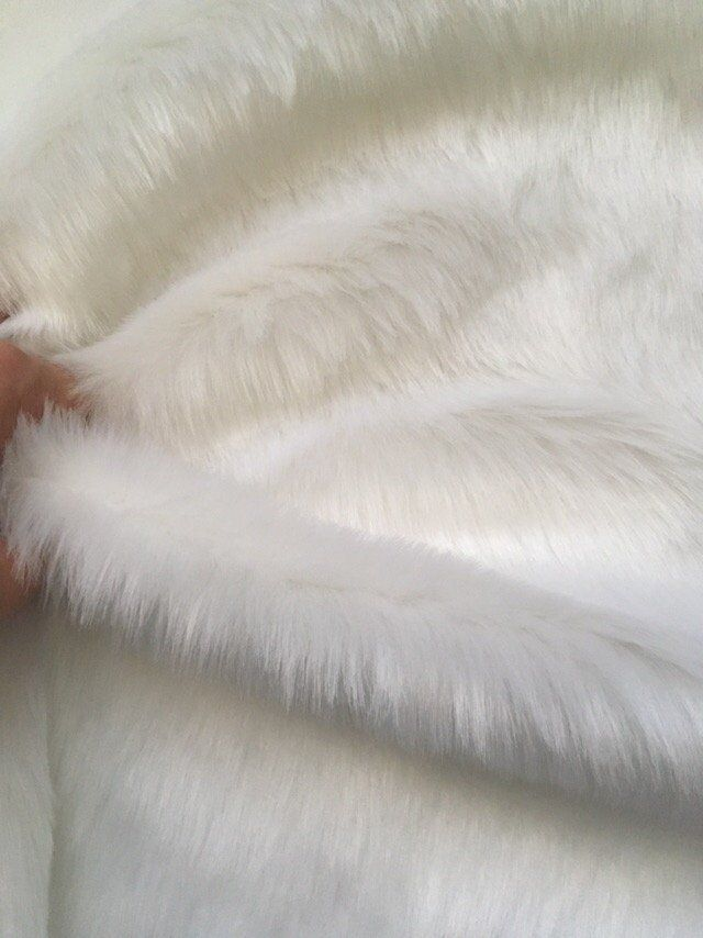 Craft Squares Free Shipping White Faux Long Pile Fur Fabric 10 X12 25x30 Cm By Ipershyn On Etsy Faux Fur Throw Blanket Faux Fur Fabrics