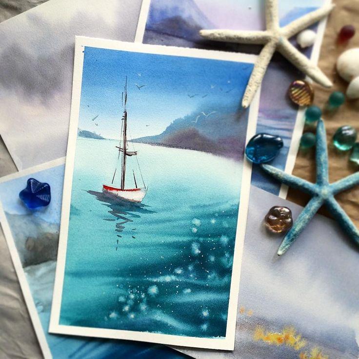 морская открытка рисунок пятницам субботам