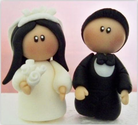 fondant wedding cake toppers tutorial 316 best images about salt dough crafts on 14388