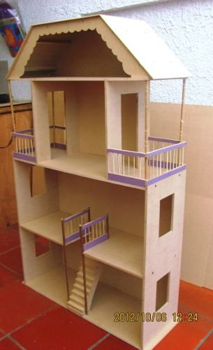 Casa para mu ecas casa de mu eca pinterest barbie doll houses and dolls - Como hacer una casa de carton pequena ...