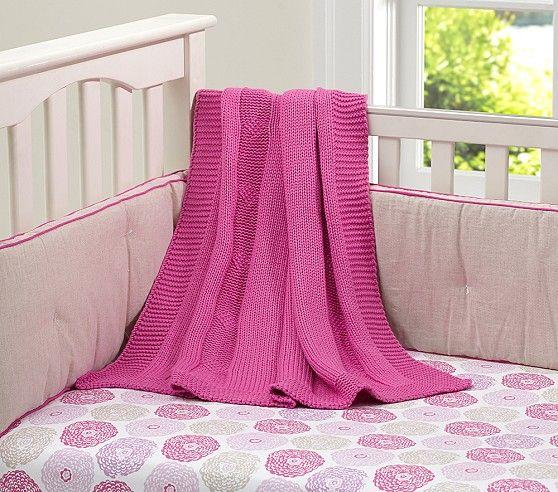 Bright Border Linen Nursery Bedding Crib Bedding Girl