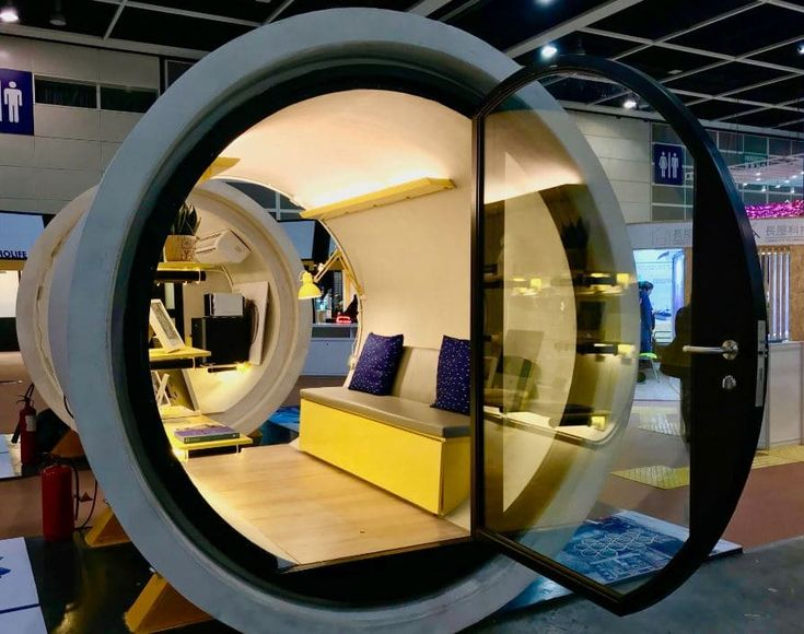 Micro apartamentos con tuberías de hormigón  #casas #arquitectura #diseño #viviendas