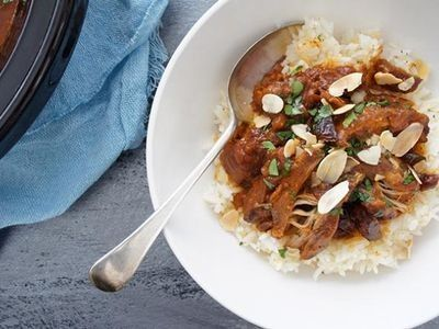 Slow Cooked Moroccan Chicken with Apricot Rice recipe