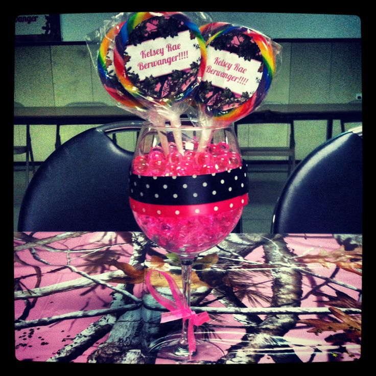 Baby Girl Pink Camo Baby Shower Centerpieces Baby