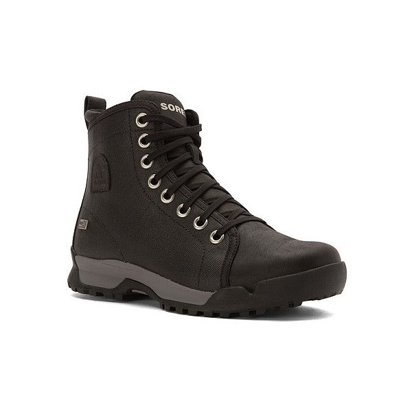 SOREL Sorel Paxson 64 Outdry  Boots (9.780 RUB) ❤ liked on Polyvore featuring men's fashion, men's shoes, men's boots, boots, men, mens shoes, mens leather shoes, sorel mens boots, mens water proof boots and mens waterproof shoes