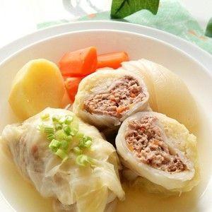 コンソメスープのロールキャベツ☆+by+snow+kitchen☆+さん+|+レシピブログ+-+料理ブログのレシピ満載! シンプルなコンソメ味のほっこり温まるロールキャベツです♪