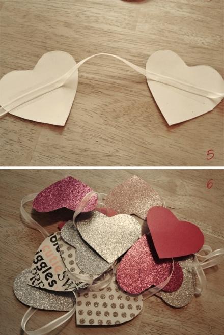 Mooi! Hartjes slinger van mooie restjes papier.