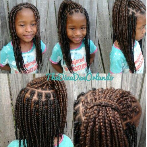 Little girl box braids