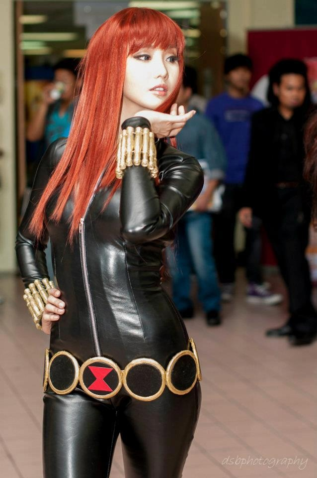 Alodia as Black Widow♥: Meeting Cosplay, Alodia Gosiengfiao, Cosplay Queen, Queen Alodia