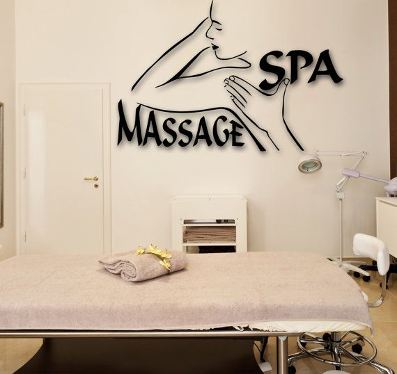 Wall Stickers Vinyl Decal Salon Spa Massage by Wallstickers4you