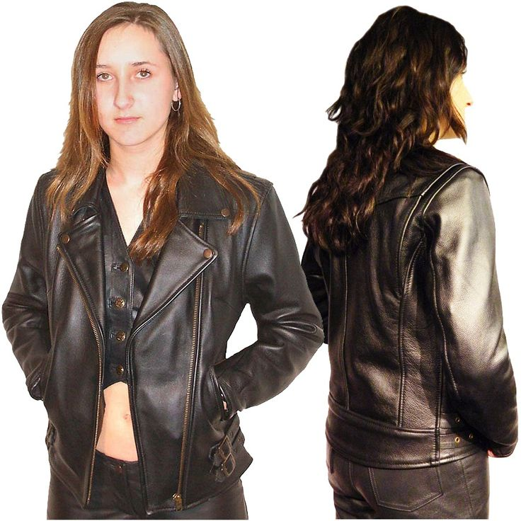 33 best Celebrity Women Leather Jackets images on ...