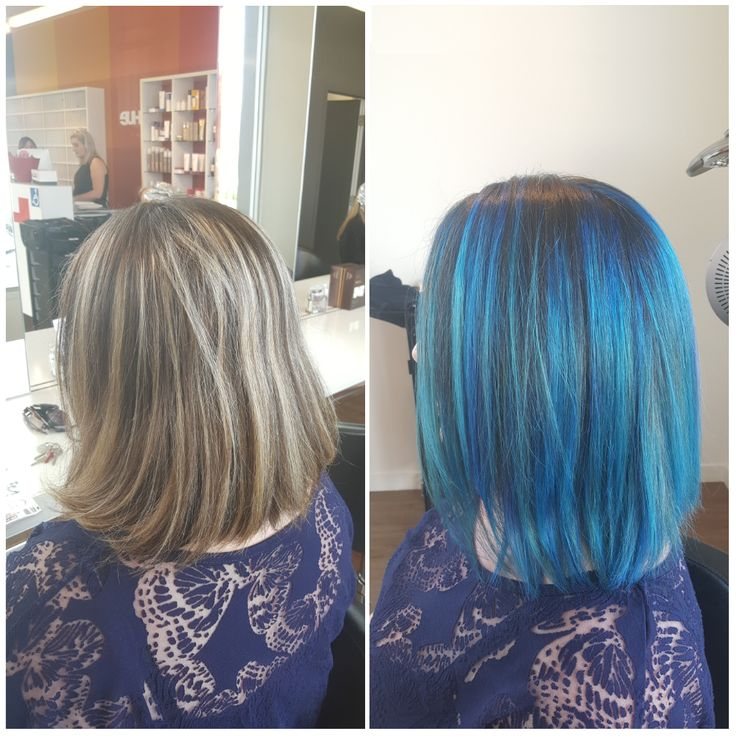 Mystic Blue 💙 By our very clever creative colourist Roxanne from Hue Hair Salon, Albany. What do you think? #BlueHair