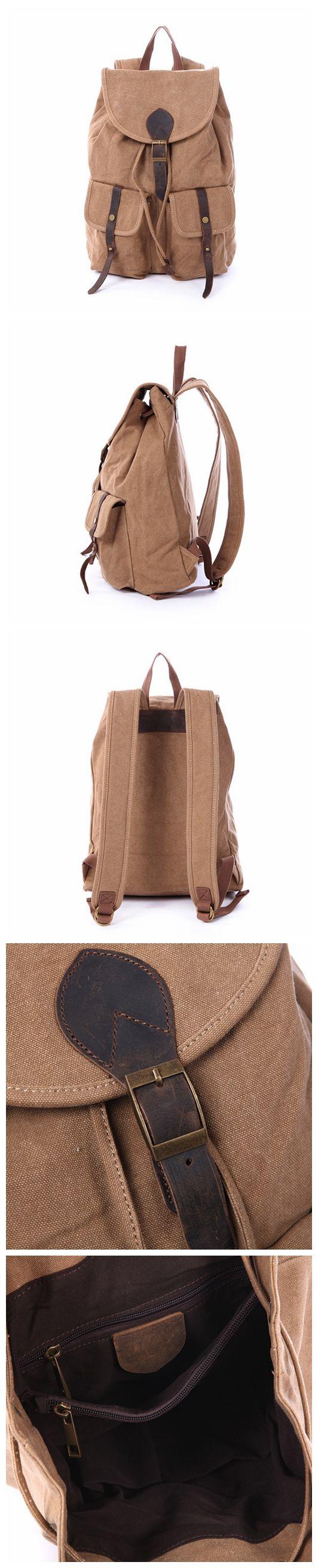 New Vintage Backpack Fashion Canvas Backpack Leisure Travel Bags Unisex Backpacks Men Backpack